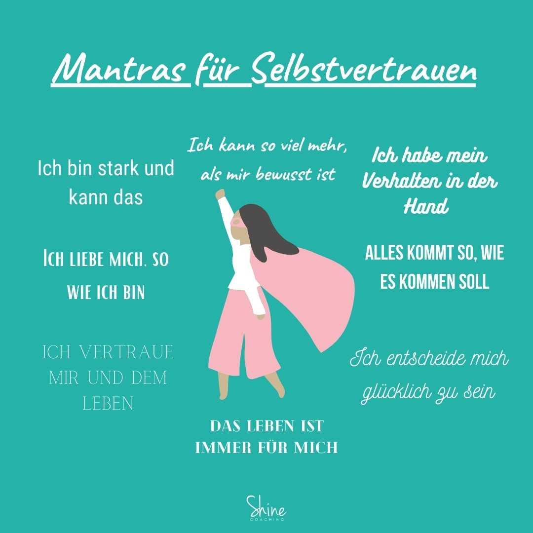 Mantras für Selbstvertrauen